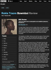 BBC   Music   Review of Rokia Traore   Bowmboi