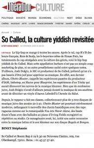 So Called  la culture yiddish revisitée   Libération